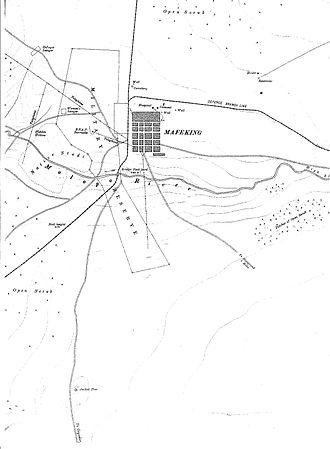 155 mm Creusot Long Tom - Long Tom at Jackal Tree near Mafeking
