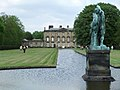 Long lake, statue and the house - Blagdon Hall Estate, Blagdon, Northumberland.jpg