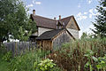 Looking SW past root cellar at house - Tinsley Living Farm - Museum of the Rockies - 2013-07-08.jpg