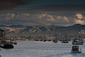 Los Osos, California - View of Los Osos from Morro Bay harbor