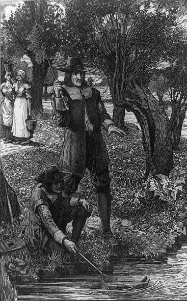 Louis John Rhead - Izaak Wolton and his scholar