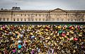 Love padlocks on the pont des Arts, Paris 28 February 2015.jpg