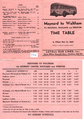 Lovell Bus Lines Maynard-Waltham bus schedule, October 1942.png