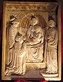 Luca della robbia, madonna, bambino, santi e il donatore pier mario brancadori da fermo, podestà di Fi (1428), 37,7x28,5 cm, coll. priv. 2.JPG