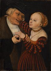 An Old Man with a Girl / An Ill-matched Couple
