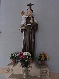 Lucenay - Statue Saint Antoine église (sept 2018).jpg