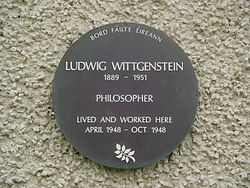 Ludwig wittgenstein in killary harbour
