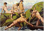 Ludwig von Hofmann - Naked Boatmen and Youths.jpg