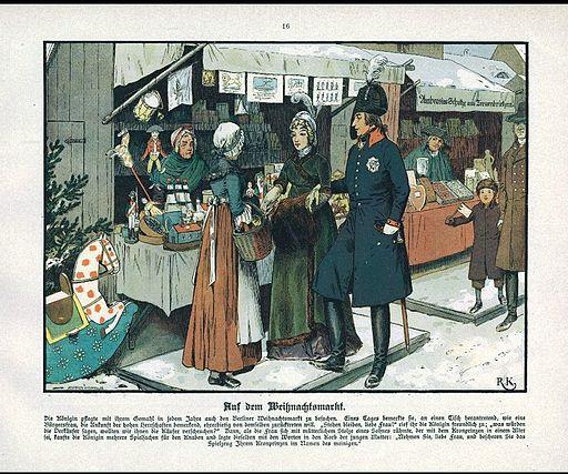 Luise auf dem Weihnachtsmarkt