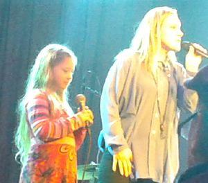 Anneli Drecker - Anneli Drecker live with her daughter Luna at Vossajazz 2015. Photo by Knut Andersen