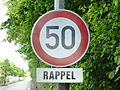 Luxembourg road sign C,14 - mod. 3e.JPG
