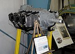 Lycoming O-435-1 six cylinder engine, view 1 - Oregon Air and Space Museum - Eugene, Oregon - DSC09694.jpg
