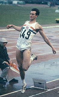 Lynn Davies Welsh long jumper and 1964 Olympic champion