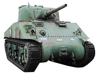 CFB Borden - Sherman tank displayed outside of Waterloo Officers' Mess at CFB Borden