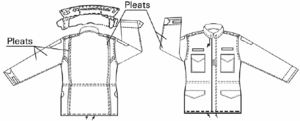 M-1965 field jacket - M65 jacket showing salient features from the specification