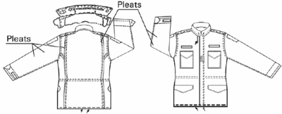 6a5007077dd M65 jacket showing salient features from the specification