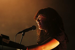 Morgan Kibby - Morgan performing with M83