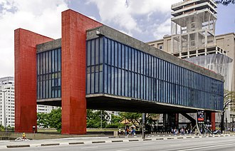 Paulista Avenue - São Paulo Museum of Art, one of the city's most controversial architectural landmarks