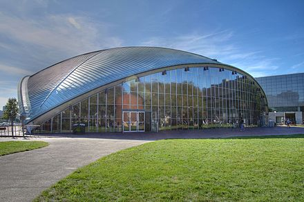 Eero Saarinen's Kresge Auditorium (1955) is a classic example of post-war architecture MIT Kresge Auditorium.jpg