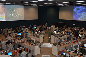 Air and Space Operations Center - A look inside the Gen. James H. Doolittle Combined Air and Space Operations Center facility (612th Air and Space Operations Center) at Davis-Monthan Air Force Base, Ariz., 2013.