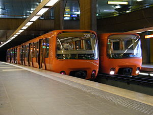 Lyon Metro - Automatic trains (no driver) of the Lyon Metro Line D