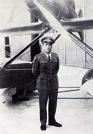 Macchi M.C.72 - Warrant Officer Francesco Agello, test pilot of the Macchi M.C. 72
