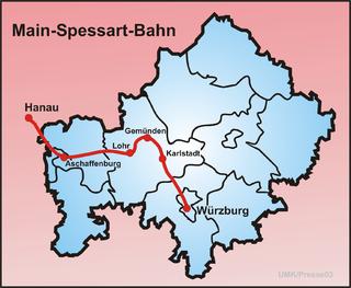 Main–Spessart railway German rail line