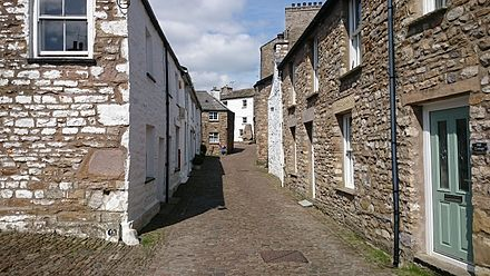 Dent, Cumbria, birthplace of Thomas de Dent, present day Main Street, Dent.jpg