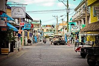 San Pedro Town - Image: Main Street San Pedro, Ambergris Caye 2
