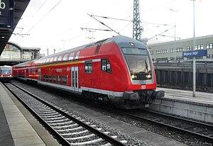 Alzey–Mainz railway - Regionalbahn service in Mainz Hauptbahnhof on its way towards Alzey (2009)