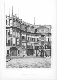 Maison du Peuple of the P.O.B. (Belgian Workers Party) (destroyed, Brussels), exterior 2.jpg