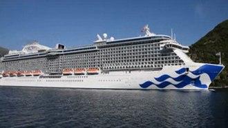 Princess Cruises - Image: Majestic Princess leaves Bay of Kotor