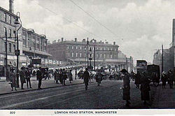 Manchesterlondonroad old postcard