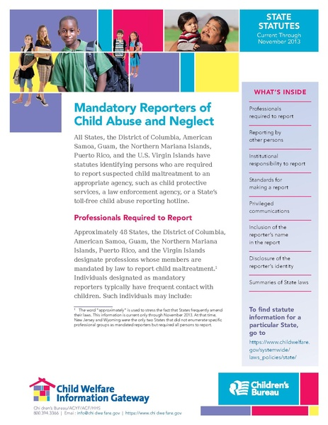 File Mandatory Reporters Of Child Abuse And Neglect US 2014