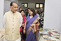 Maneka Sanjay Gandhi and the Union Minister for Agriculture and Farmers Welfare, Shri Radha Mohan Singh taking a round of the first of its kind Women of India Exhibition with the theme 'Women and organic Products'.jpg
