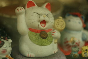 old old manekineko the lucky cat