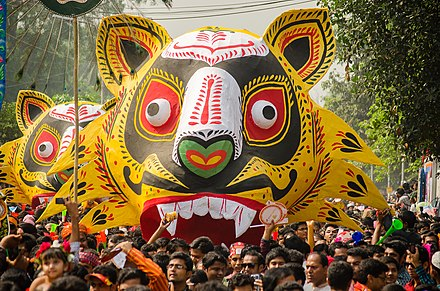 The annual Bengali New Year parade Mangal Shobhajatra in Dhaka.jpg