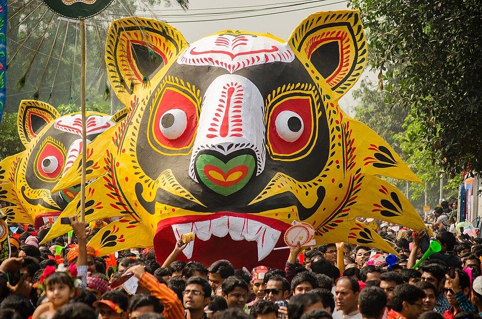 Mangal Shobhajatra in Dhaka
