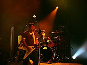 Manic Street Preachers in London during their 2005 tour.