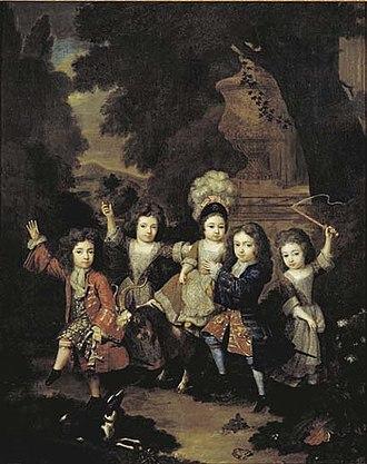 Francisco Lopes Suasso - Five of Suasso's children, c. 1709