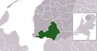 De Fryske Marren - Image: Map NL Municipality code 1921 (2014)
