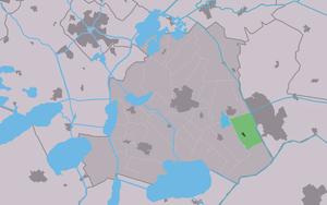 Rottum, Friesland - Image: Map NL Skarsterlân Rottum