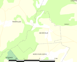 Mapa obce Ancienville