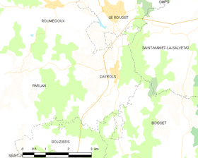 Map commune FR insee code 15030.png
