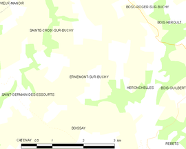 Mapa obce Ernemont-sur-Buchy