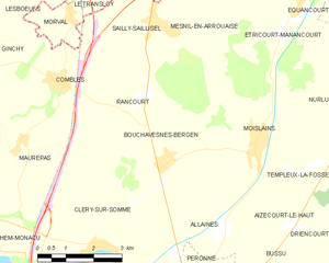 Battle of Le Transloy - Image: Map commune FR insee code 80115