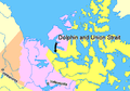 Map indicating Dolphin and Union Strait, Northwest Territories, Canada.png