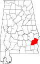 Map of Alabama highlighting Barbour County.svg