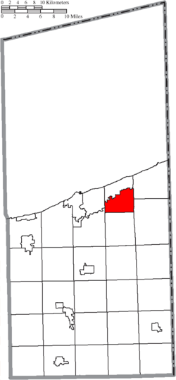 Location of Kingsville Township in Ashtabula County
