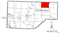 Map of Bloomfield Township, Crawford County, Pennsylvania Highlighted.png